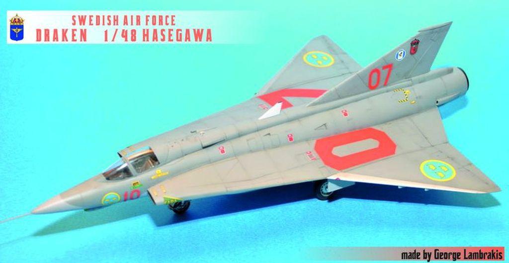 1/48 Swedish Air Force <<DRAKEN>> Hasegawa