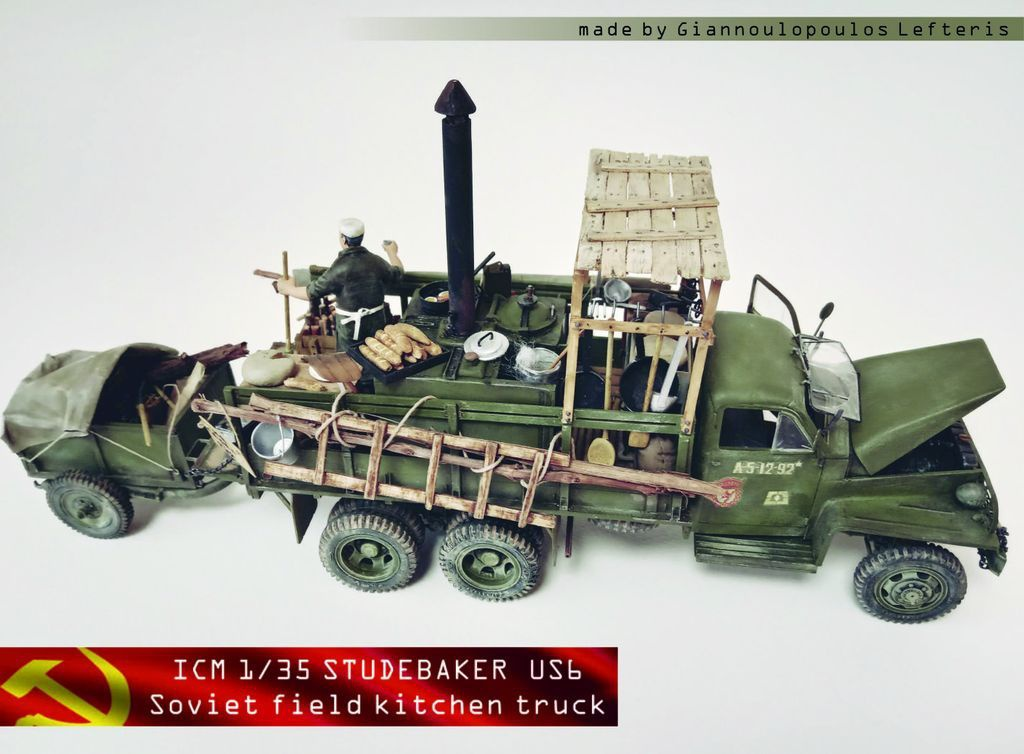 ICM 1/35 Studebaker US6 (Soviet field kitchen truck)