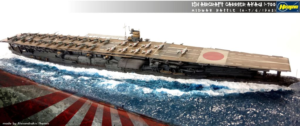 IJN Akagi -Midway Battle 1942 (1/700 Hasegawa)